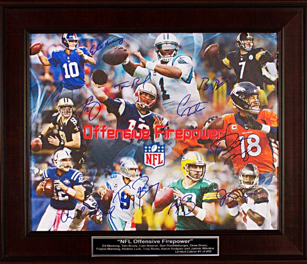 NFL Offensive Firepower Autographed Canvas