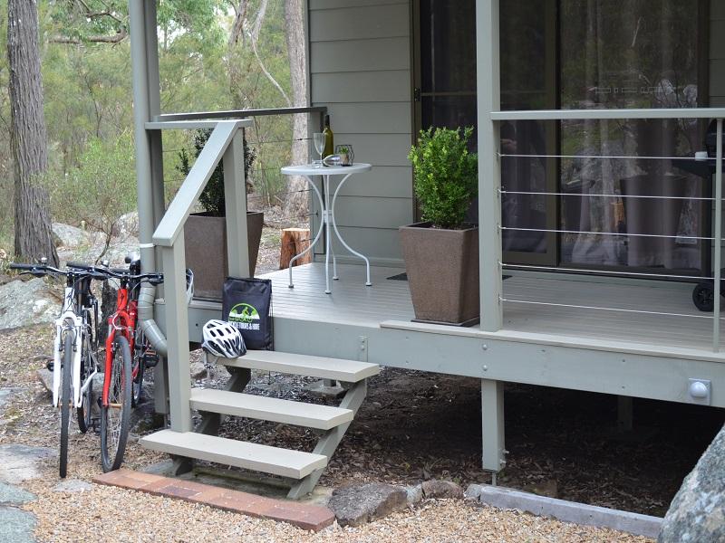 Bikes outside villa at 31 The Rocks