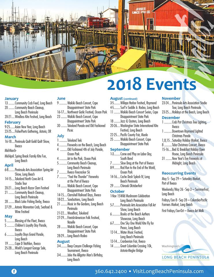 2018 Long Beach Peninsula events
