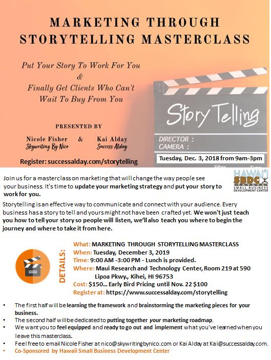 Marketing Through Storytelling Masterclass