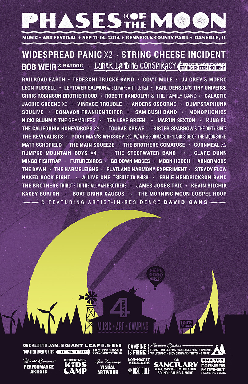 Phases of the Moon Festival - Latest Lineup