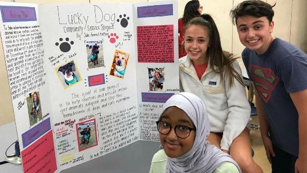 8th graders in Community Showcase