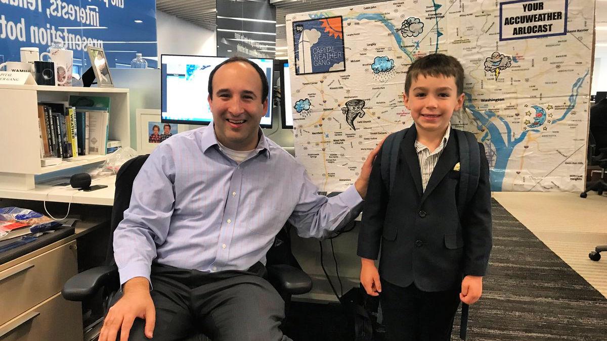 Second grader visits Washington Post