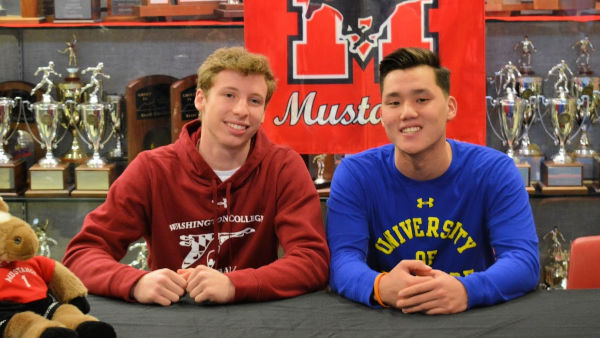 Jay and TJ after their college signings