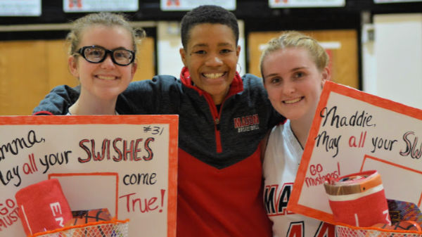 Three recognized at senior night