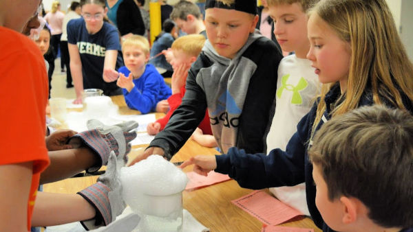 Dry ice demonstration at last year's STEAM night