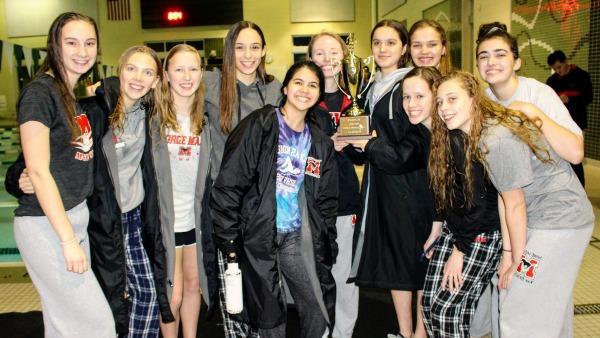 Girls at Region meet