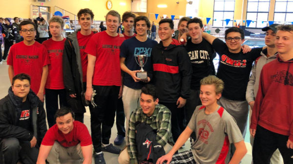 Boys with district trophy