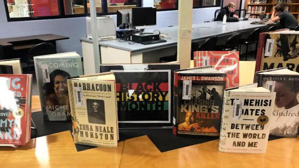 Black History month book display