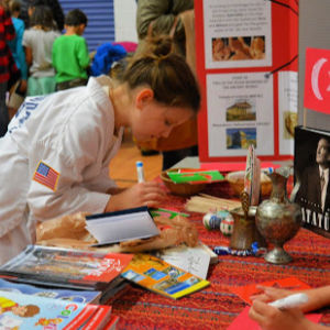 Student at Turkey's booth last year