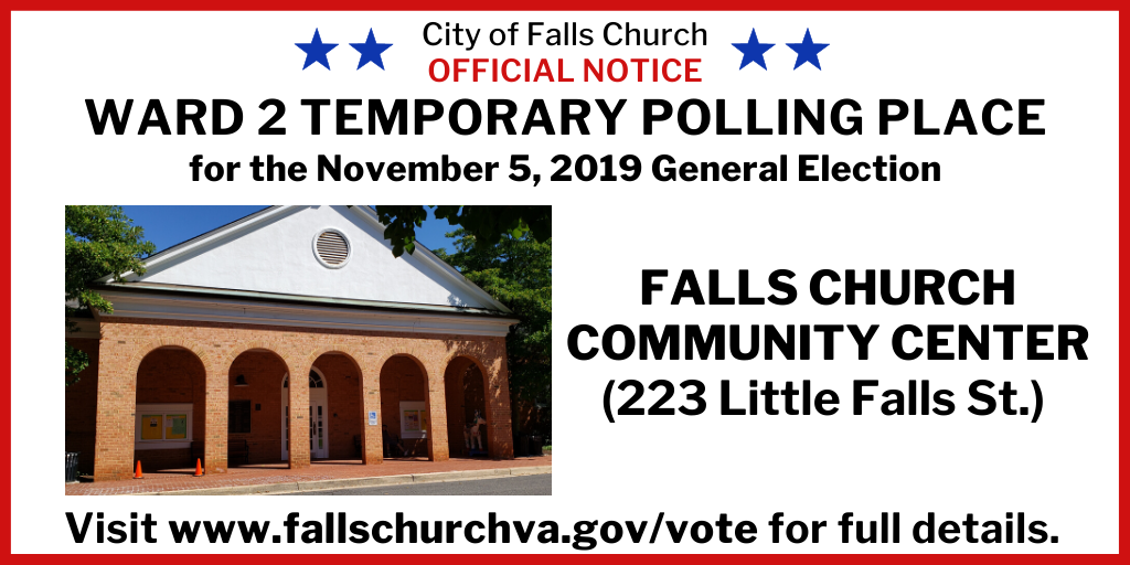 Flyer for City Polling location changes