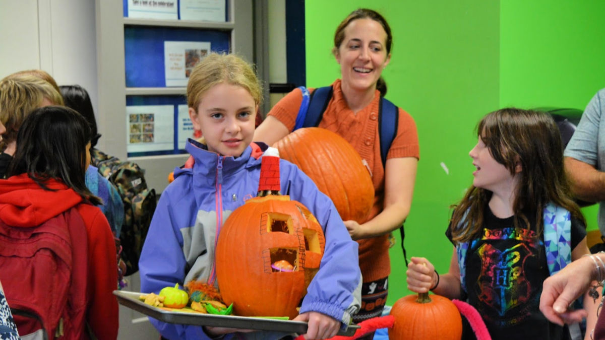 Entries for pumpkin decorating contest