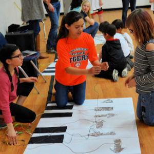 Students help lead STEAM night activities