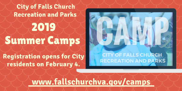 City's Summer Camp registration opening - flyer