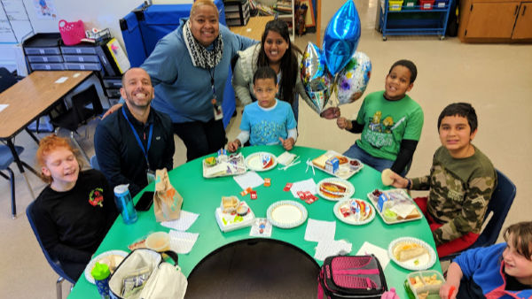 Students in Life Skills enjoy a special lunch