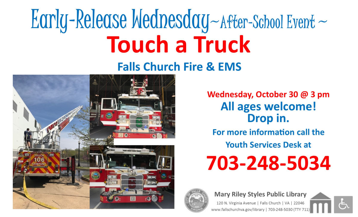Touch a Truck event a Public Library on Wednesday
