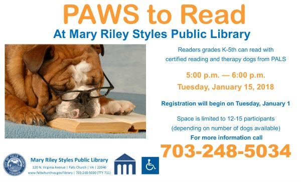 Library flyer for Tuesday activity