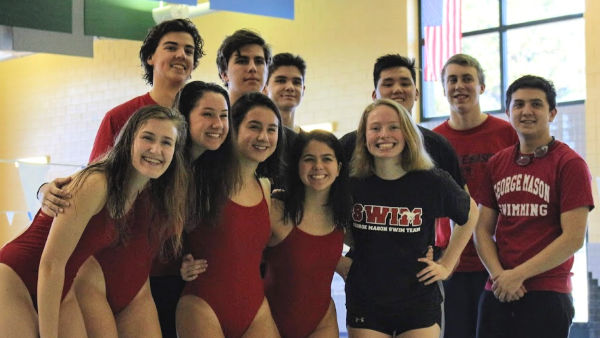 Seniors on the two swim teams