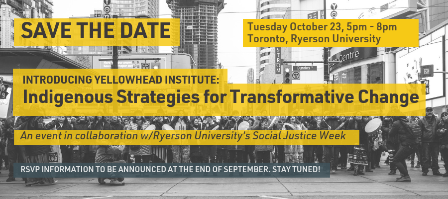 October 23 Save the Date - Yellowhead Launch