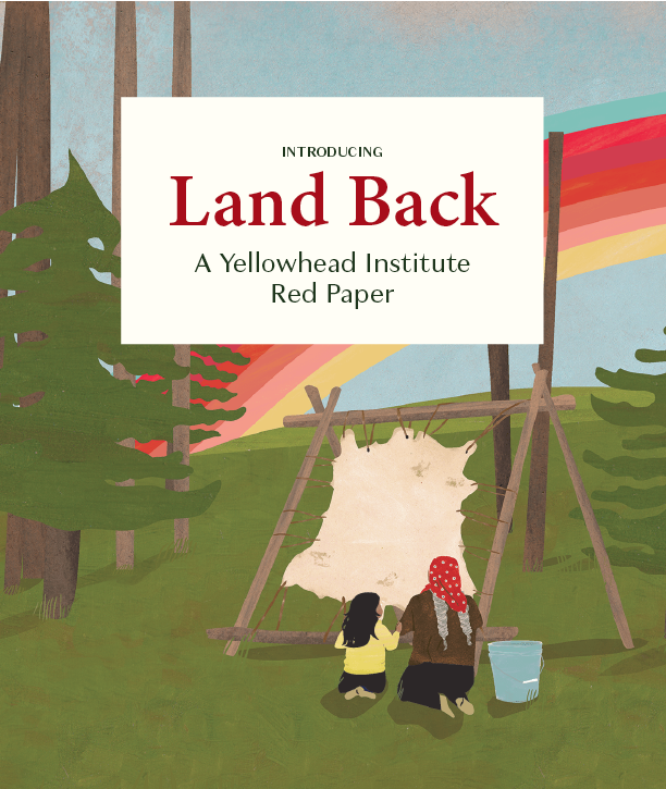Julie Flett Rainbow Image - Red Paper Land Back Announcement