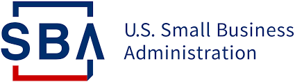 Small Business Adminstration logo in red and blue