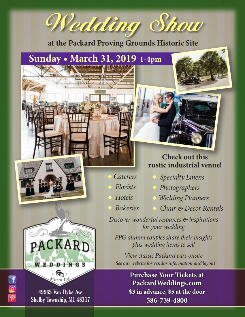 2019 PPG Wedding Show Flyer