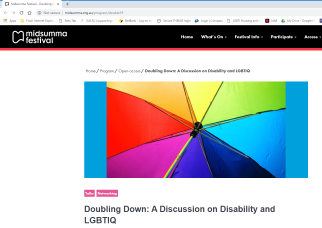 Doubling Down: a discussion on disability and LGBTIQ