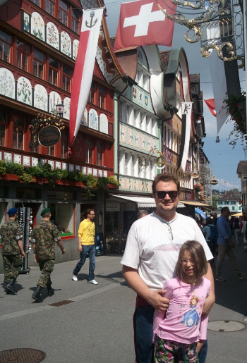 Duarte and daughter - happy in Switzerland
