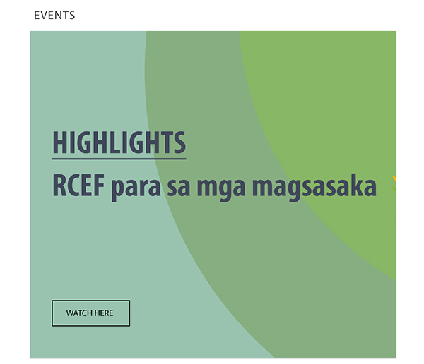 RCEF lauching in Visayas and Mindanao