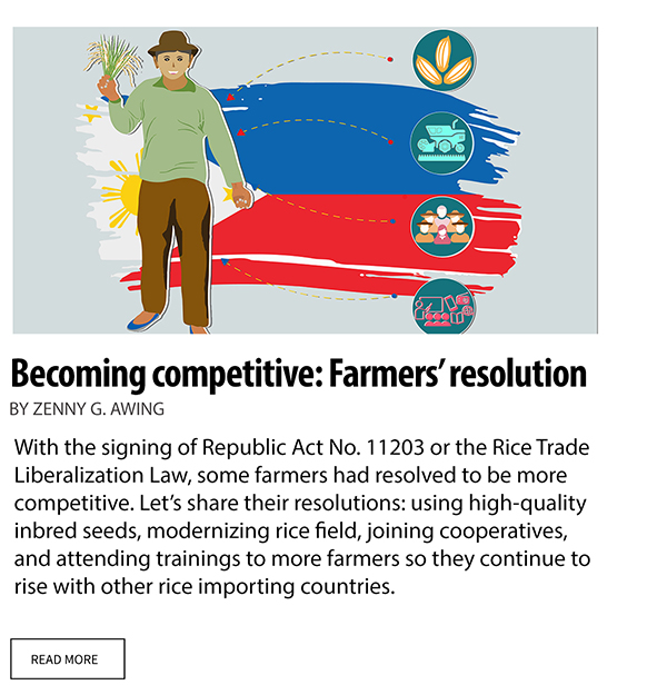Becoming competitive: Farmers' resolution