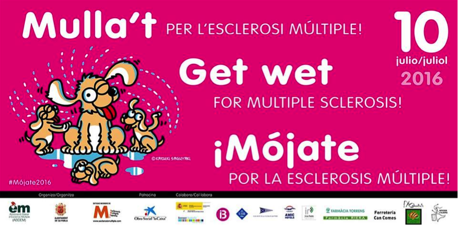 Banner publicitari de la campanya mulla't per l'esclerosi múltiple