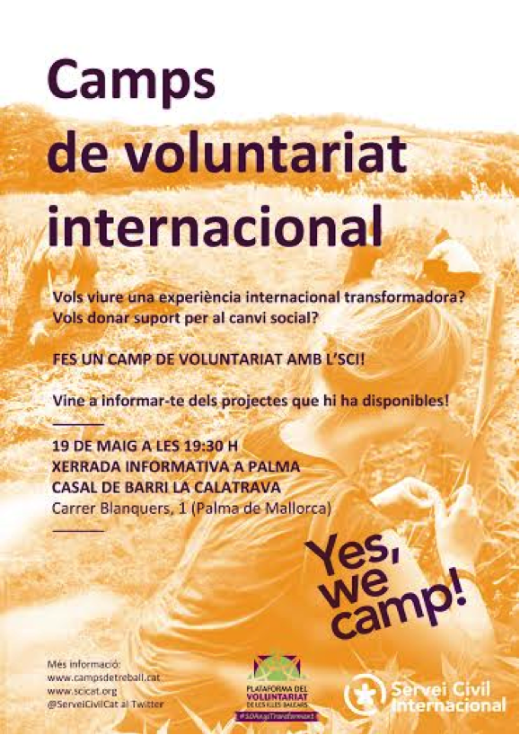 CARTELL CAMPS VOLUNTARIAT INTERNACIONAL