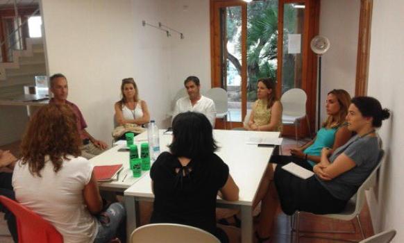 imatge durant la reunió de la trobada