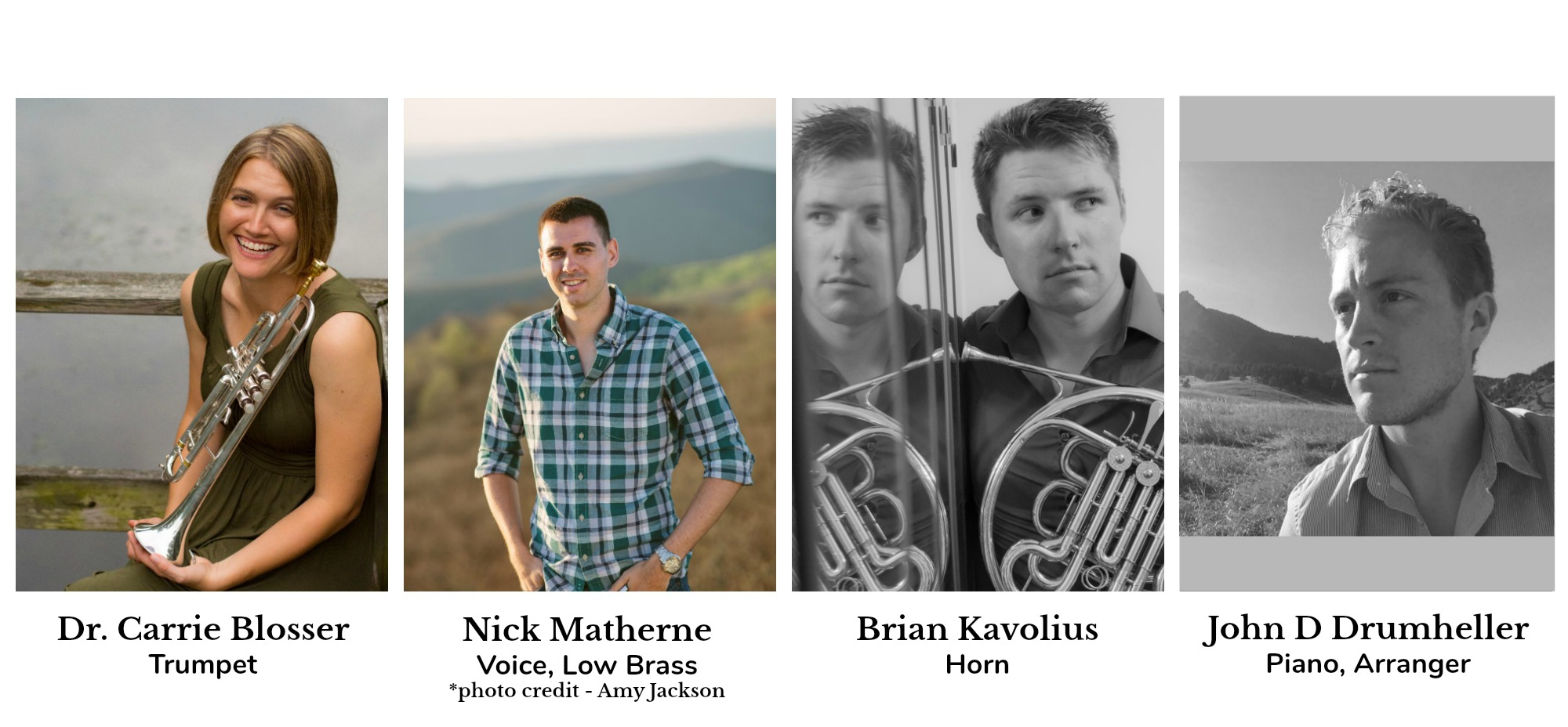 Musicians for Tunes & Tastings 1/21 promo
