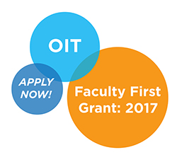 O I T Faculty First 2017 Apply Now!