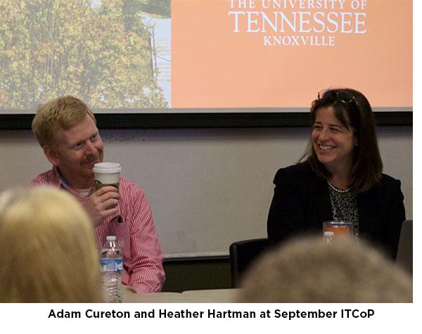 Adam Cureton and Heather Hartman at September I T C O P