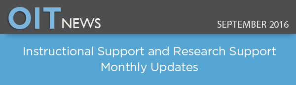 Instructional Support and Research Support Monthly Updates