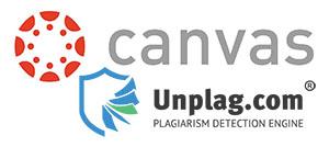 Canvas and Unplag logos