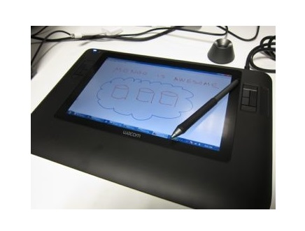Wacom tablet with drawing