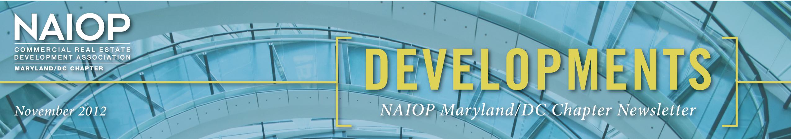 NAIOP Developments Newsletter - November 2012