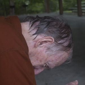 My Dad after the Rainy Hike