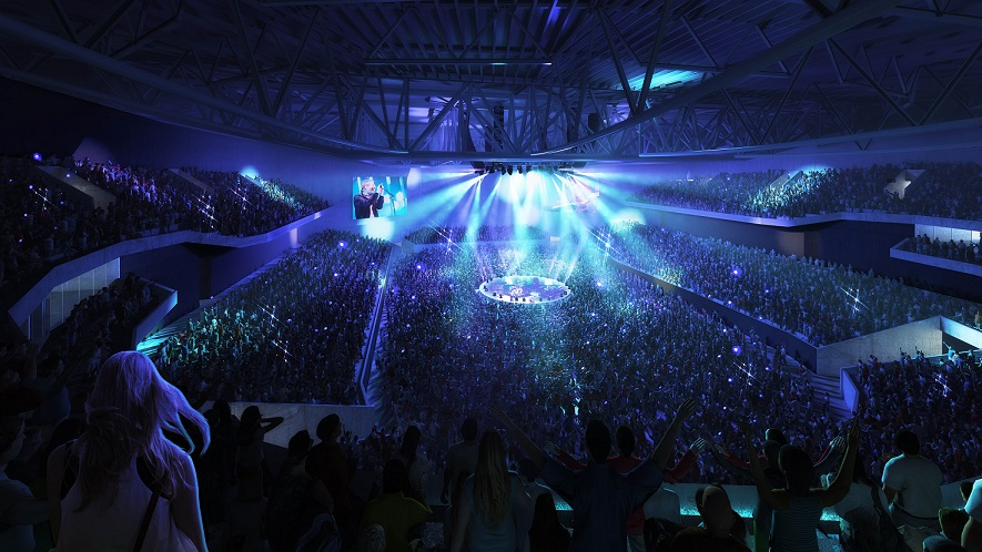 Internal visual of arena