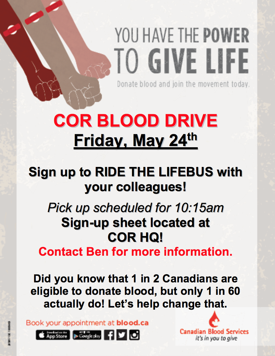 COR Blood Drive