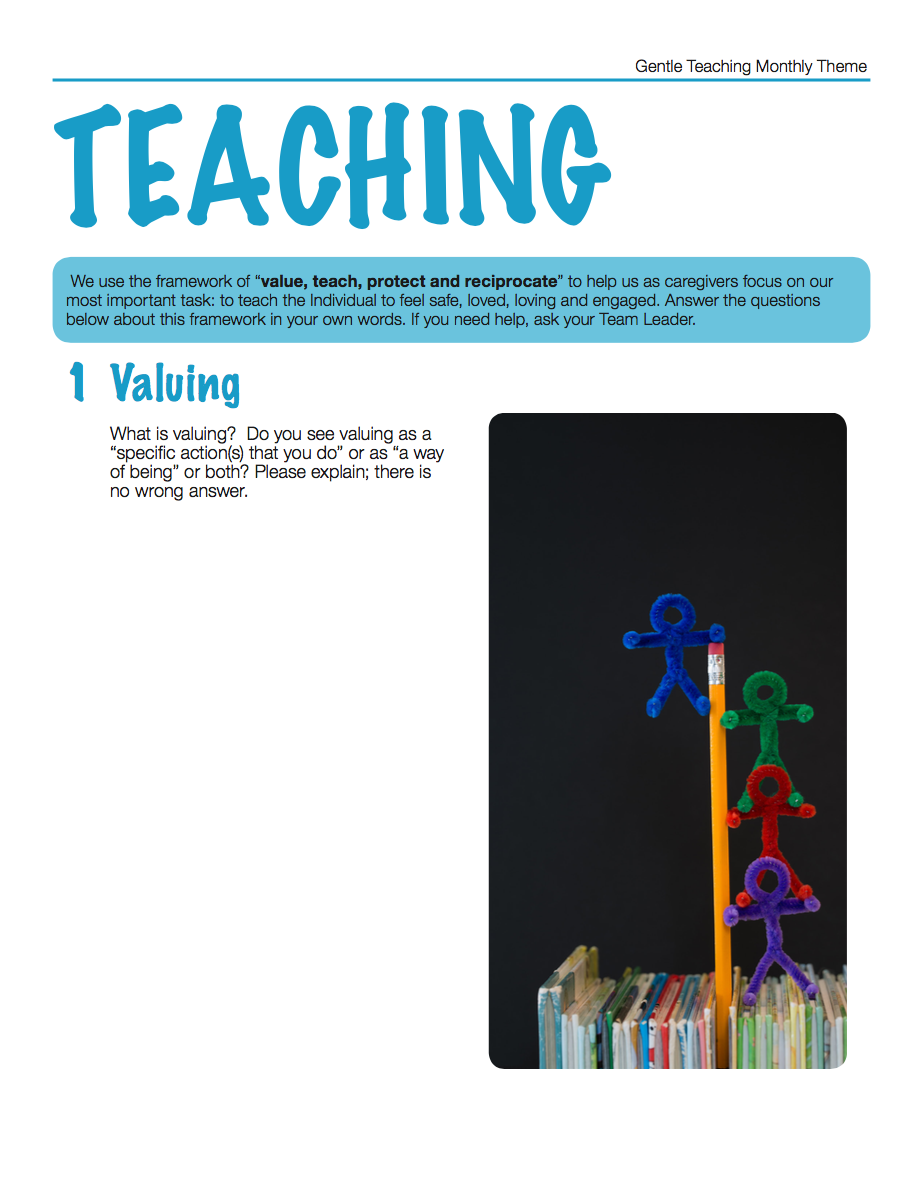 Gentle Teaching Theme: Teaching