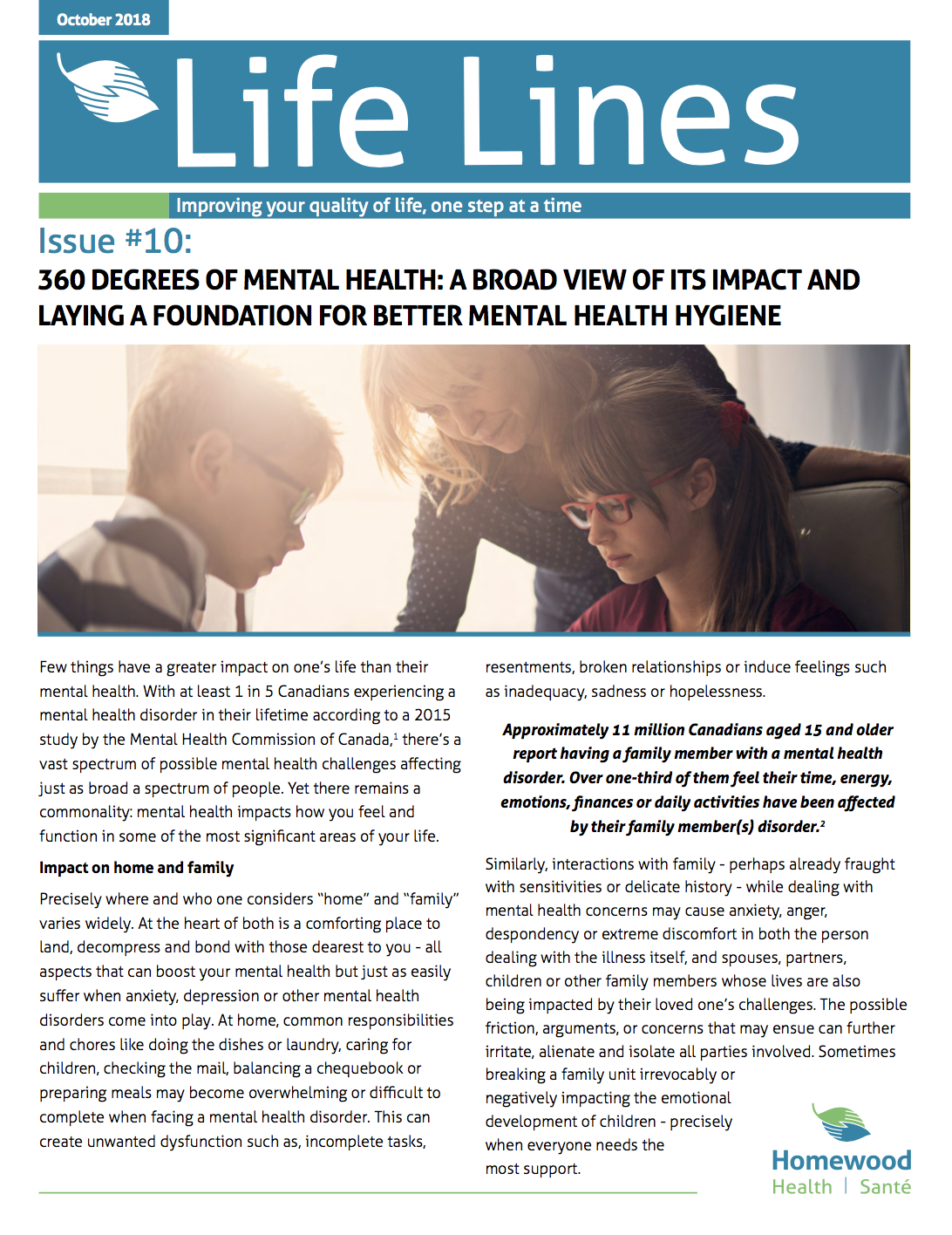 Life Lines: October 2018 pg. 1