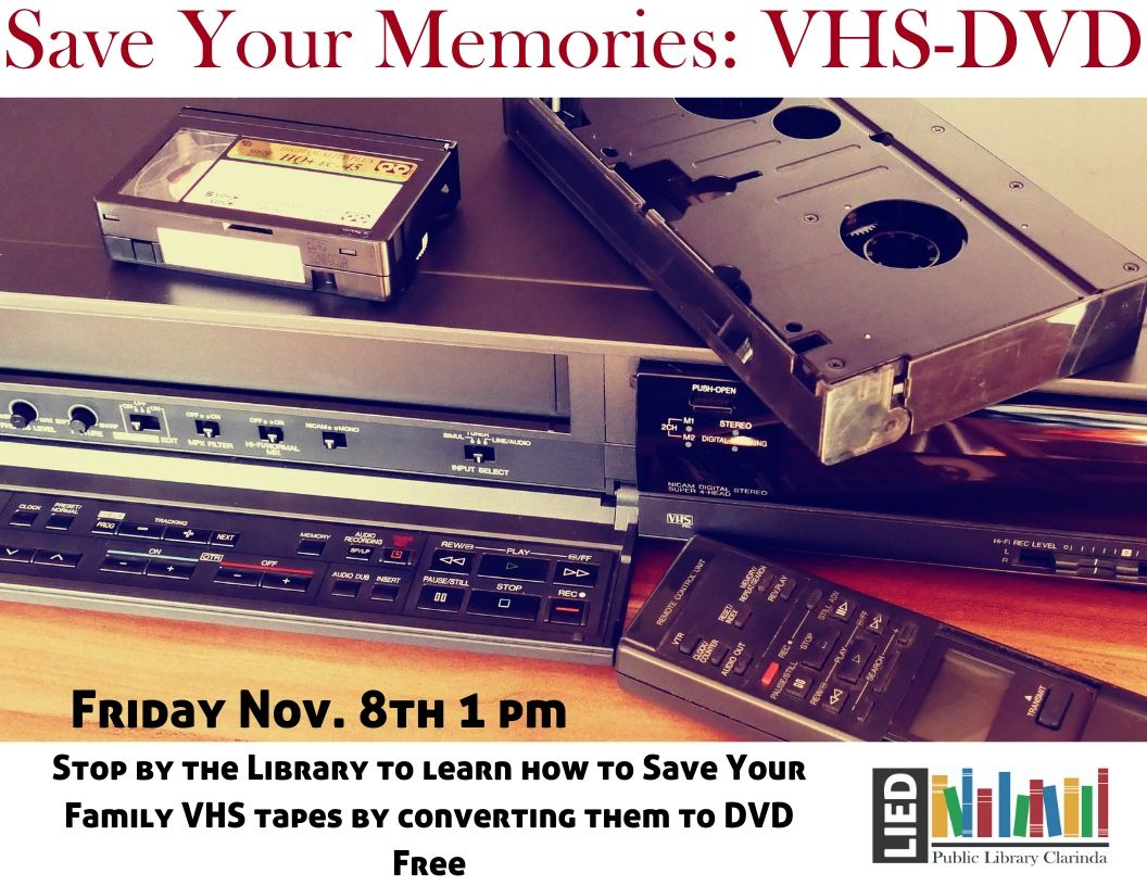 save your memories: vhs to dvd converting program