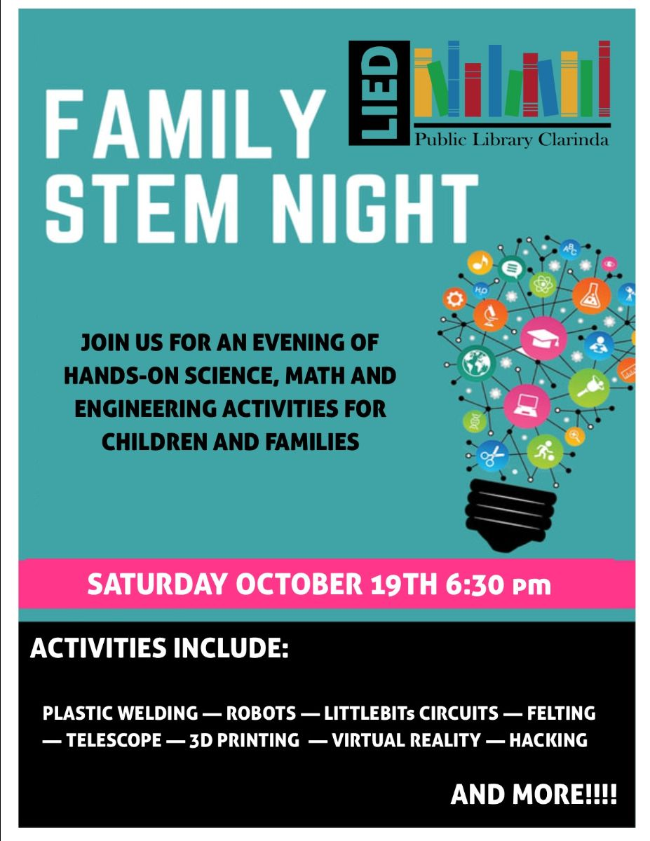 Family Stem Night Flyer