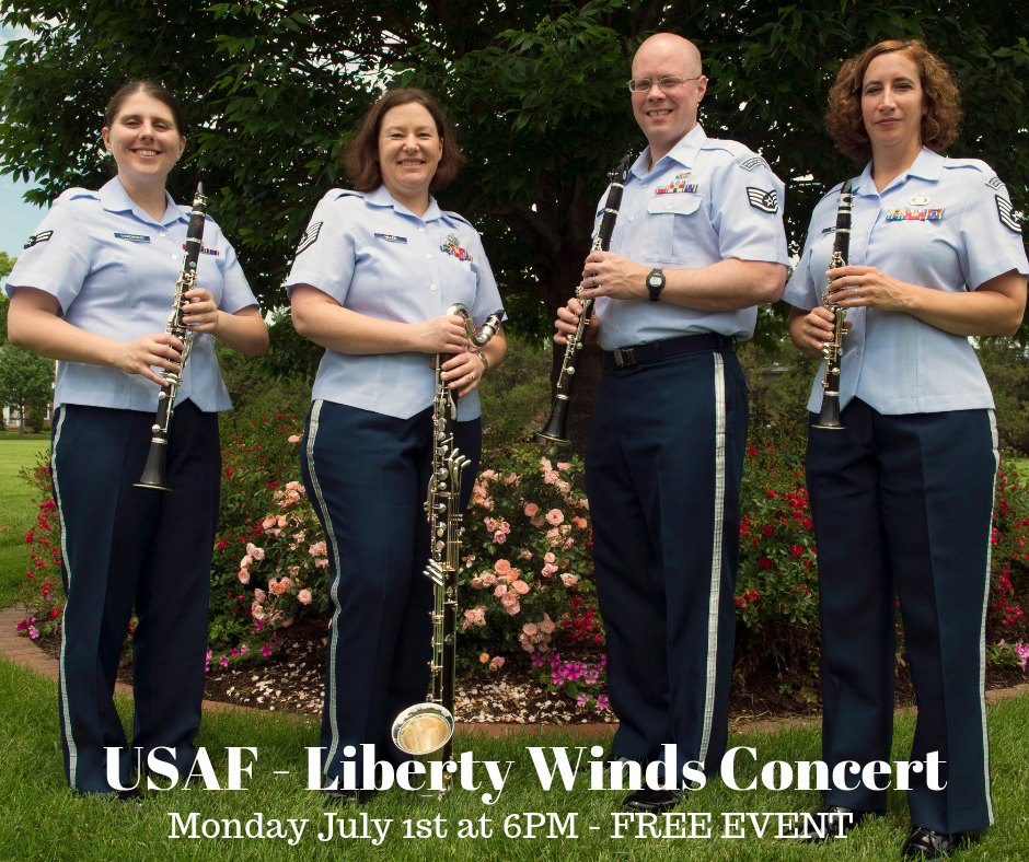 USAF Liberty Winds Concert July 1st 6 PM