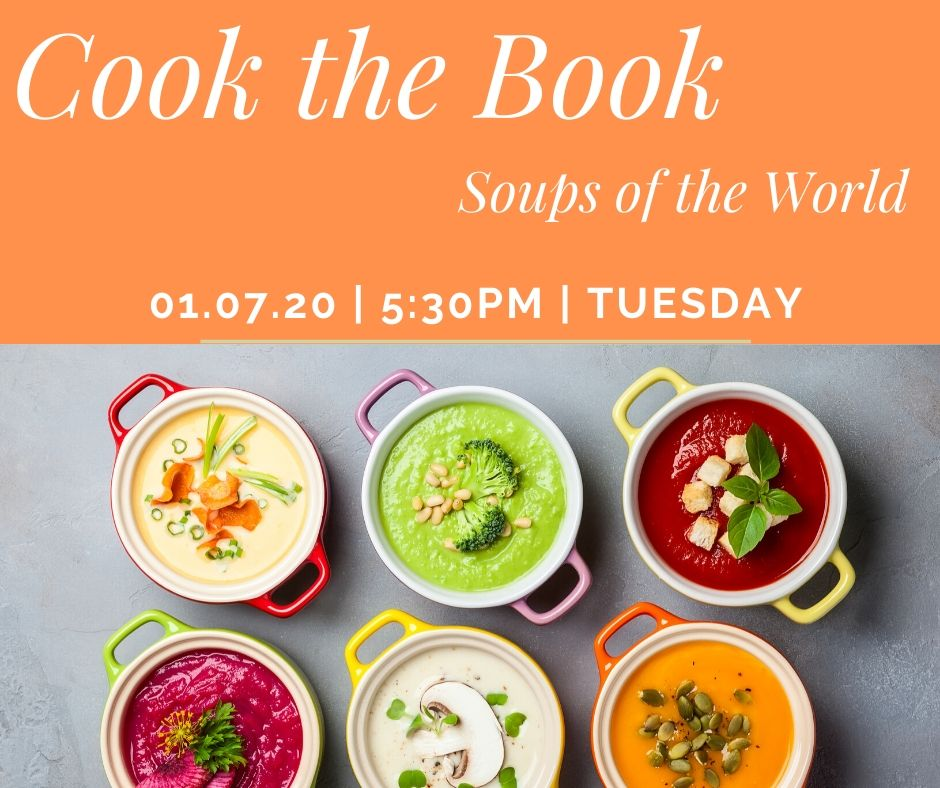 Cook the book soups of the world flyer