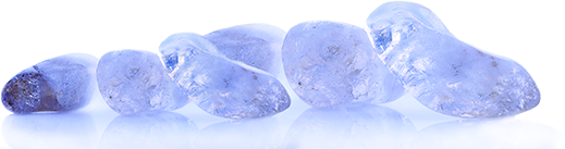 Blue Amber Line Stones
